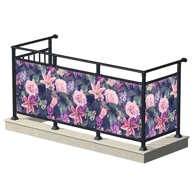 Fioletowo-różowe kwiaty -...
