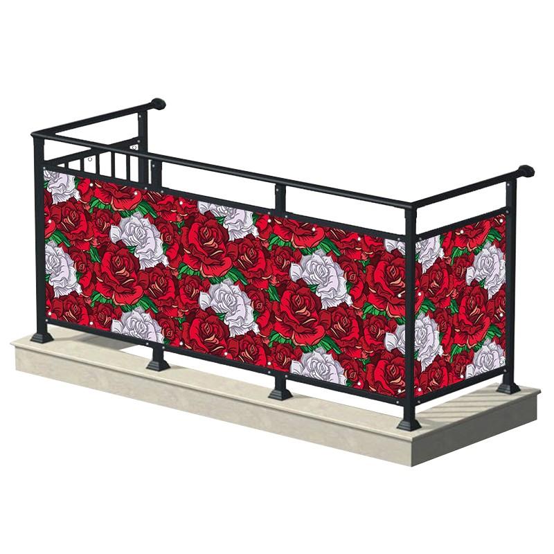 Czerwono-białe róże -...