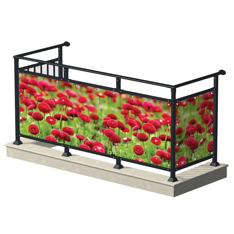 Czerwone kwiaty - osłona...