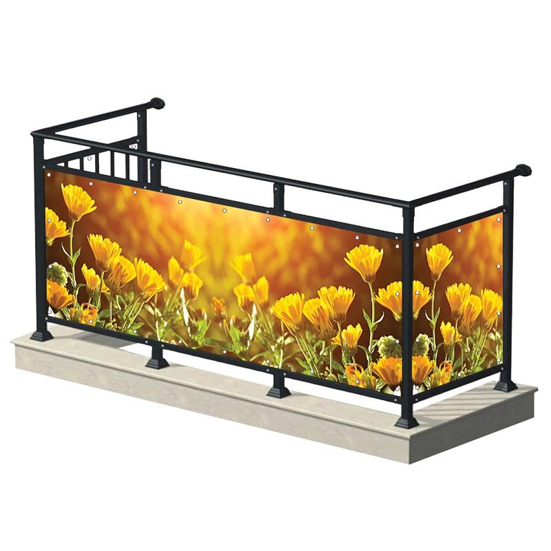 Żółte kwiaty - osłona...