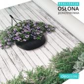 """Piękna osłona jednostronna z wiszącymi donicami 🌸 Projekt """"Delikatne kwiaty na deskach""""  Produkt można znaleźć tutaj: https://www.deaoslony.pl/kwiaty-i-krzewy/219-332-delikatne-kwiaty-na-deskach-oslona-balkonowa-tarasowa.html#/1-material-material_banerowy_jednostronny  #osłonabalkonowa #osłonanabalkon #osłonanapłot # osłonanataras #osłonanaogrodzenie #osłonatarasowa #osłonanaogrodzenie #matanabalkon #matanapłot"""