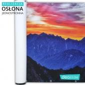 Piękny widok gór na osłonie jednostronnej https://www.deaoslony.pl/krajobrazy/146-113-zachod-w-gorach-oslona-balkonowa-tarasowa.html#/1-material-material_banerowy_jednostronny